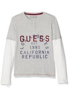 GUESS Boys' Big Long Sleeve Combo T Shirt