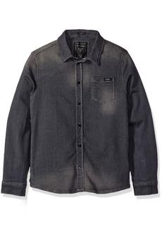 Guess Big Boys' Long Sleeve Knit Denim Shirt
