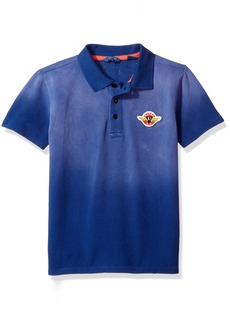 GUESS Big Boys' Short Sleeve Patch Polo