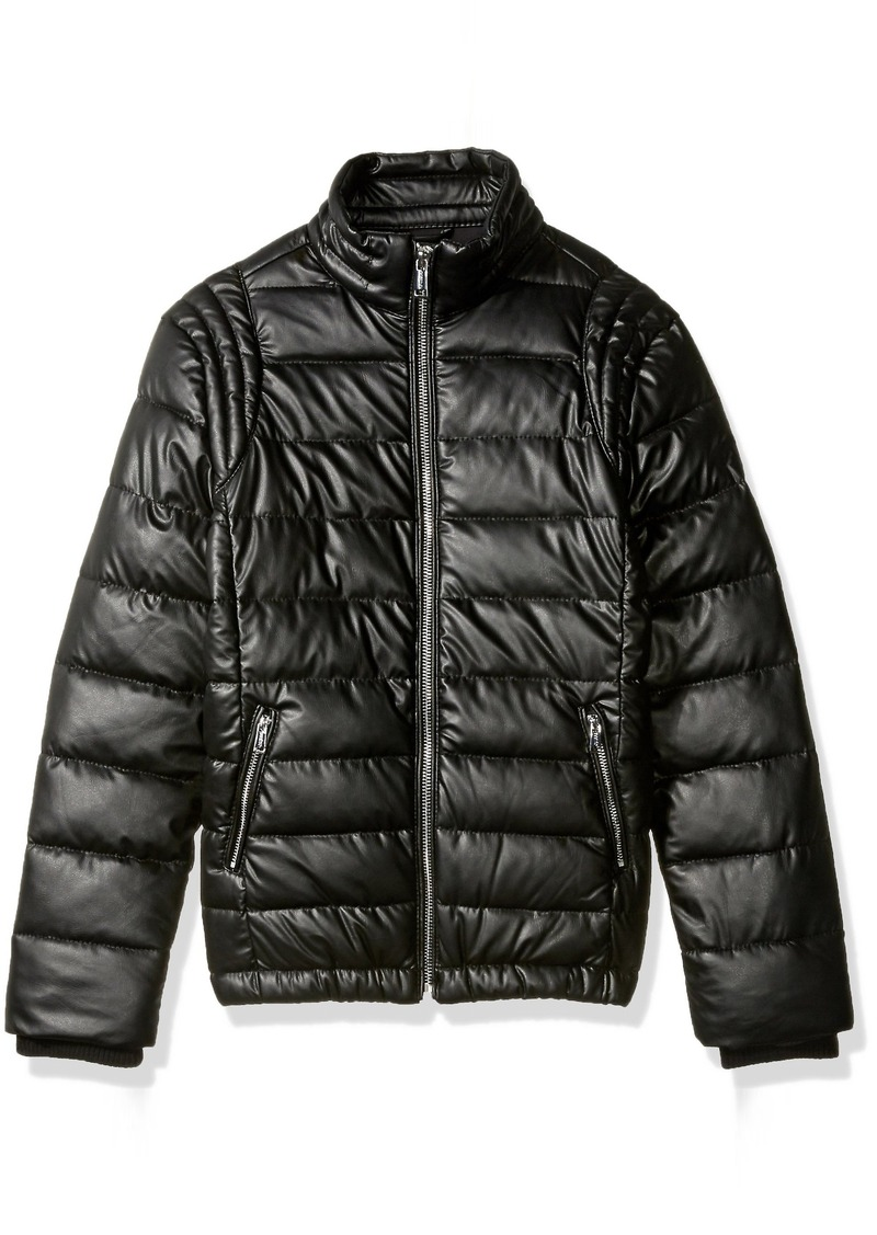GUESS GUESS Boys  Big Smart Stretch Quilted Eco Leather Down Jacket 871b41fafdd
