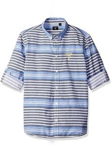 GUESS Big Boys' Yarn Dyed Stripe Button Fron Shirt