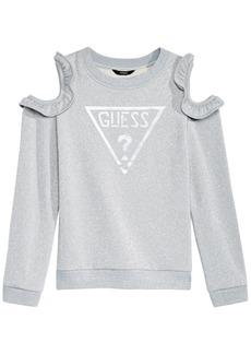 Guess Big Girls Cold Shoulder Fleece Sweatshirt