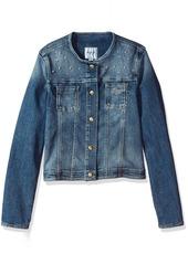 GUESS Big Girls' Denim Jacket with Jewels
