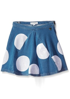 GUESS Big Girls' Dotted a-Line Skirt
