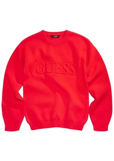 Guess Big Girls Embossed Logo Sweater