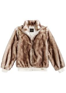 Guess Big Girls Faux Fur Bomber Jacket