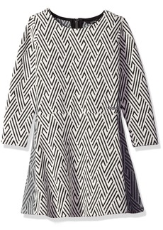 GUESS Girls' Big Geometric Jacquard Dress