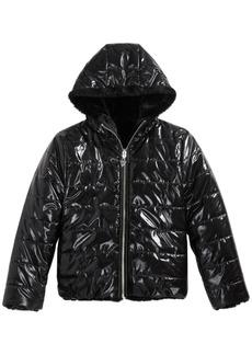 Guess Big Girls Reversible Hooded Puffer Jacket