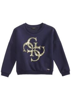 Guess Big Girls Sequin Fleece Sweatshirt