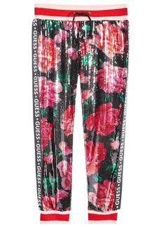 Guess Big Girls Sequin Floral Jogger Pants