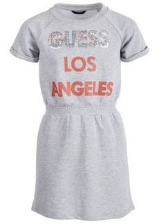 Guess Big Girls Sequin Logo T-Shirt Dress