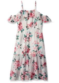 GUESS Big Girls' Sleeveless Floral Midi Dress