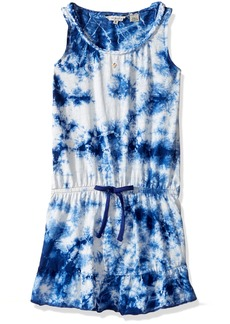 GUESS Big Girls' Sleeveless Tie Die Dress