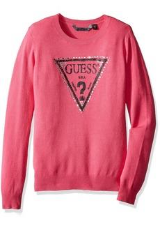 GUESS Big Girls' Sparkle Logo Sweater