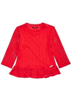 Guess Big Girls Stretch Crochet Top