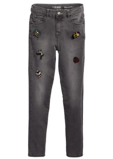 Guess Big Girls Super Skinny Beaded Applique Jeans