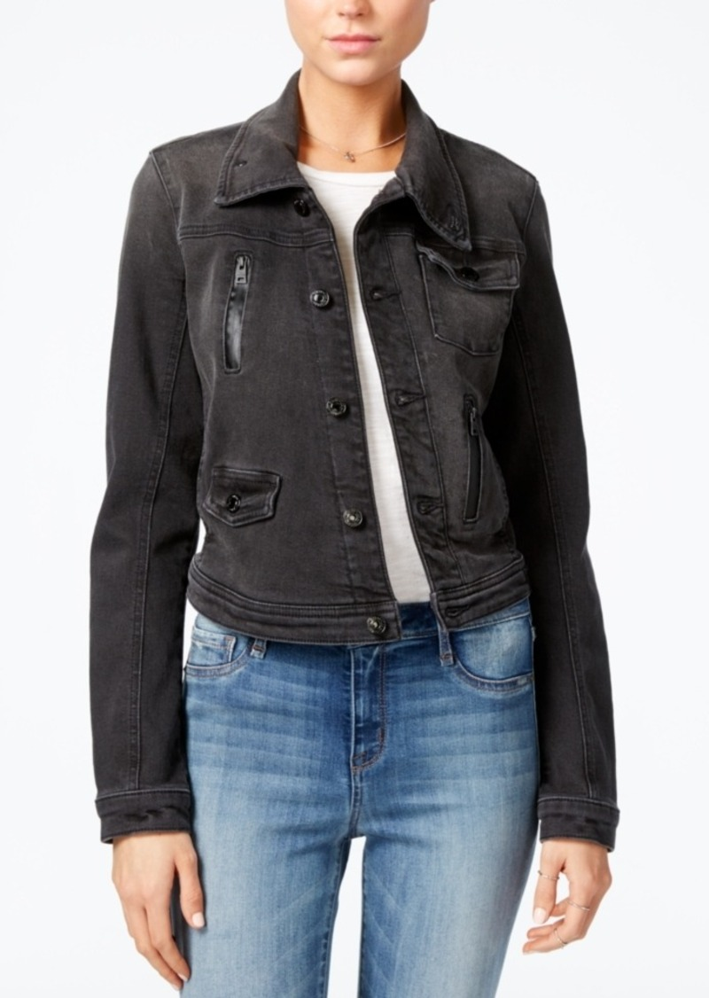 Guess Black Wash Denim Jacket