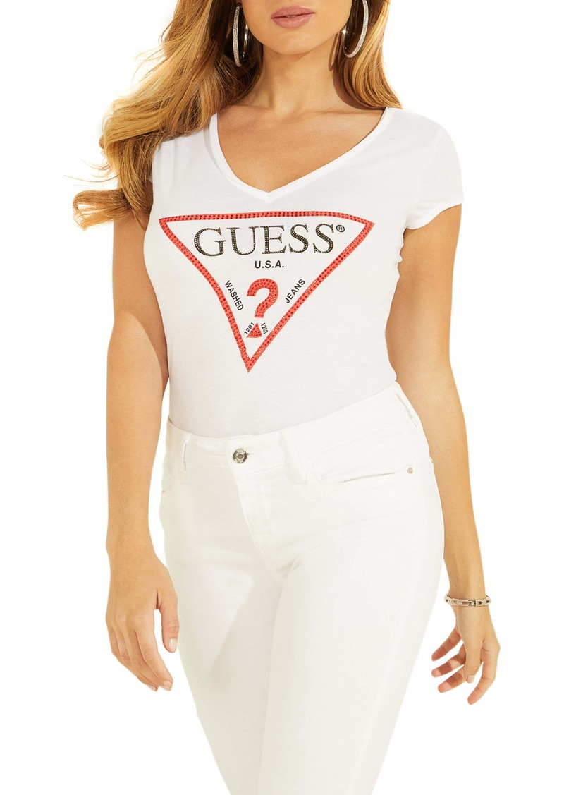 GUESS Bling Logo Graphic Tee