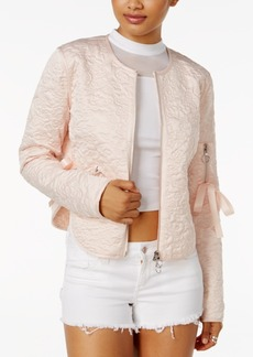 Guess Bottega Quilted Bow-Detail Jacket