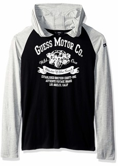 Guess Boys' Big Blake Hooded Long Sleeve Graphic T-Shirt