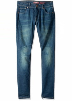 Guess Boys' Big Faded Skinny Fit 5 Pocket Jean deep Emerald wash