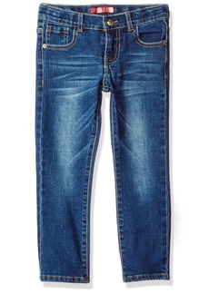 GUESS Boys' Little Boys' 5 Pocket Distressed Wash Jeans