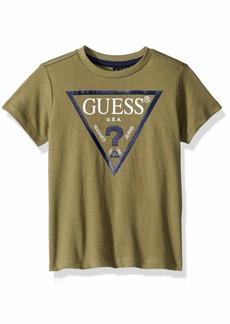GUESS Boys' Little Burton Short Sleeve Logo T-Shirt_core