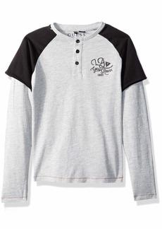 Guess Boys' Little Dan Long Sleeve T-Shirt