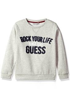 GUESS Boys' Little Long Sleeve Graphic Fleece