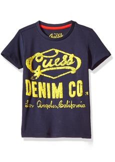GUESS Boys' Short Sleeve Denim T-Shirt