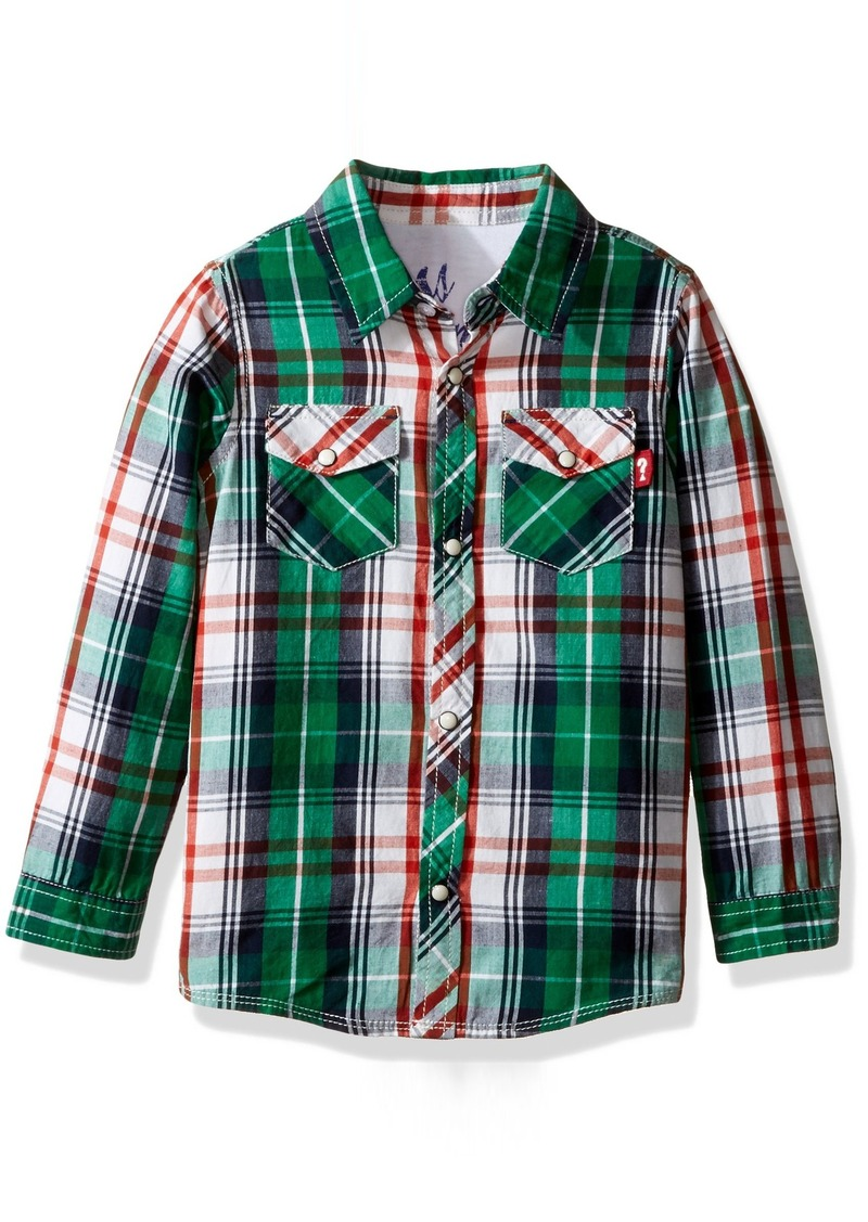 34ec04d25 GUESS GUESS Toddler Boys' Long Sleeve Button Down Plaid Shirt | Shirts