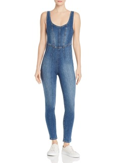 GUESS Bria Sleeveless Denim Jumpsuit