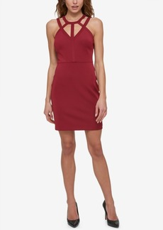 Guess Caged Scuba Bodycon Dress