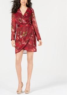 Guess Camila Floral-Print Faux-Wrap Dress