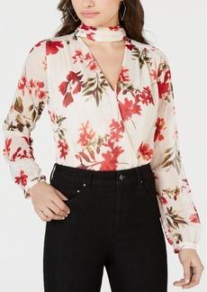 Guess Camilla Choker-Neck Sheer-Sleeve Bodysuit