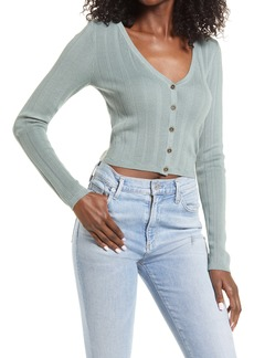 GUESS Camille Sweetheart Crop Cardigan