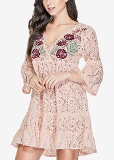 Guess Capri Embroidered Lace Dress