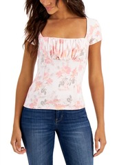 Guess Carly Printed Square-Neck Top