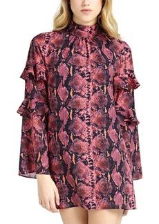 Guess Cathy Printed Ruffled-Sleeve Shift Dress