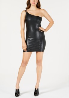 Guess Cecile One-Shoulder Faux-Leather Dress