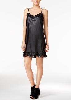 Guess Celeste Faux-Leather Slip Dress