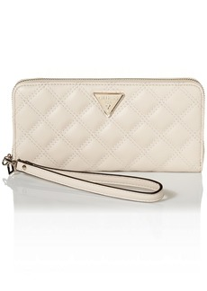 GUESS Cessily Large Zip Around Wallet STONE