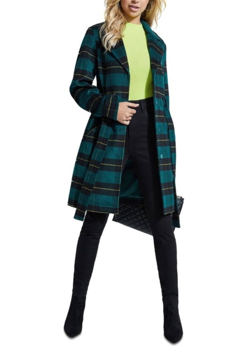 Guess Checkmate Belted Coat
