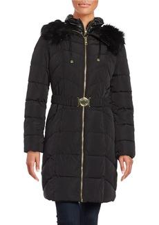 GUESS Chevron Quilt Puffer Jacket