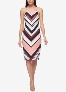 Guess Chevron Striped Sheath Dress