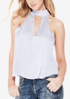 Guess Choker-Neck Keyhole Top