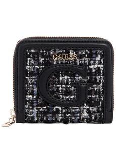 Guess Chrissy Zip-Around Tweed Wallet