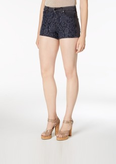 Guess Claudia Lace-Trim Jean Shorts