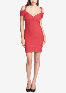 Guess Cold-Shoulder Bandage Dress