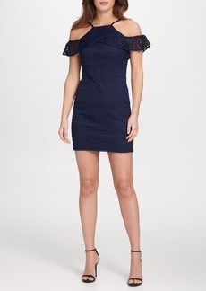 Guess Cold Shoulder Lace Sheath Dress